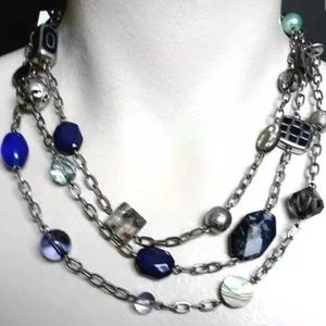 Lia Sophia Ocean Beaded Multi Stone Necklace